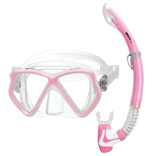 Set Mares Pirate – Maschera + Snorkel – Colore  Rosa/Pink