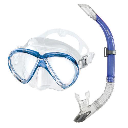 Set Maschera + Snorkel MAREA MARES – Colore Blu